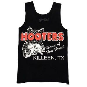Hooters Tank Top Black Authentic Uniform XS Owl Fort Hood Killeen TX Texas